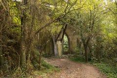 Spaanse landschappen in Galicië, de manier aan Santiago de Compostela Stock Foto's