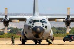 Spaanse Luchtmacht c-130 het vrachtvliegtuig van Hercules royalty-vrije stock fotografie