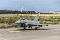 Spaanse Luchtmacht Eurofighter Royalty-vrije Stock Foto
