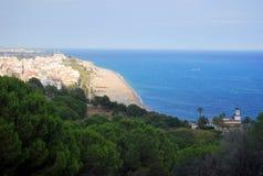 Spaanse Mediterrane kust Calella Royalty-vrije Stock Afbeelding