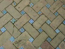Spaanse Mozaic Paviment Stock Afbeelding