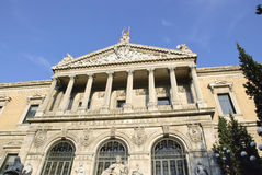 Spaanse nationale bibliotheek Royalty-vrije Stock Foto's