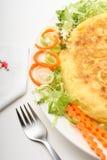 Spaanse omelet 01 stock foto