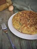 Spaanse omelet Royalty-vrije Stock Fotografie