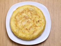 Spaanse omelet. De omelet van aardappels. Royalty-vrije Stock Foto's