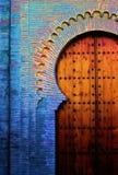 Spaanse oude deur stock afbeelding