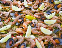 Spaanse paella   Royalty-vrije Stock Foto