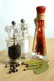 Spaanse peper & zwarte peper Royalty-vrije Stock Fotografie