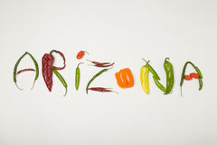 Spaanse peper Arizona Royalty-vrije Stock Afbeelding