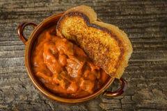 Spaanse peper en Toost Stock Fotografie
