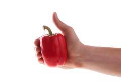 Spaanse peper op een witte achtergrond Royalty-vrije Stock Fotografie