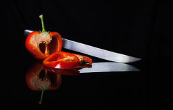 Spaanse peperbezinning stock afbeelding