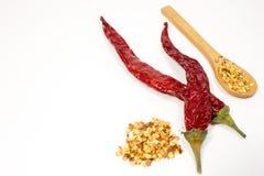 Spaanse peperpeper en zaden royalty-vrije stock foto's