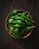 Spaanse pepers DE padron stock fotografie