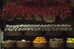 Spaanse pepers en knoflook Stock Afbeelding