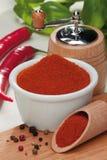 Spaanse pepers en peper Royalty-vrije Stock Afbeeldingen