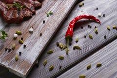 Spaanse pepers met kruiden Royalty-vrije Stock Foto
