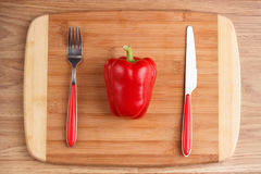 Spaanse pepers op koolzaadachtergrond Royalty-vrije Stock Foto