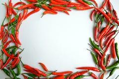 Spaanse pepers in vorm van Fotokader Royalty-vrije Stock Foto's