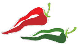 Spaanse peperspeper stock illustratie