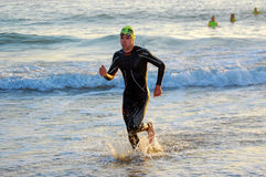 Professionele triathlete van Ironman Stock Fotografie