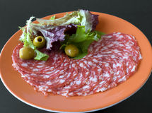 Spaanse salami Royalty-vrije Stock Foto