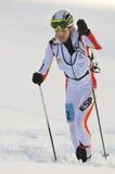 Spaanse skiër Marc Pinsach Rubirola Stock Foto's