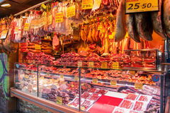Spaanse slagerij Stock Fotografie