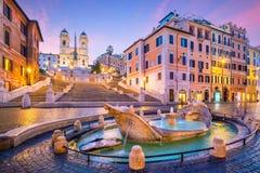 Spaanse Stappen in de ochtend, Rome royalty-vrije stock foto's