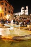 Spaanse Stappen, Rome stock foto