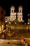 Spaanse Stappen, Rome stock foto's