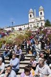 Spaanse Stappen in Rome Stock Foto