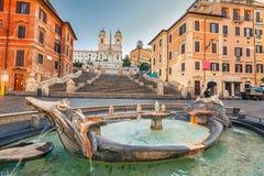 Spaanse stappen in Rome Stock Afbeeldingen