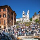 Spaanse Stappen, Rome - Italië Royalty-vrije Stock Foto