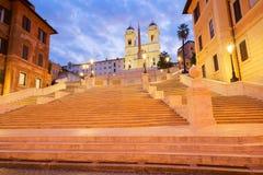 Spaanse Stappen, Rome, Italië Stock Foto's
