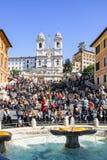 Spaanse stappen in Rome, Italië Stock Foto's