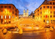 Spaanse Stappen, Rome, Italië Stock Foto