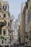 Spaanse stappenmening in Rome stock afbeeldingen