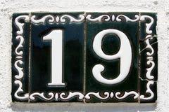 Spaanse straat nummer 19 stock foto's