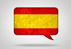 Spaanse taal stock illustratie