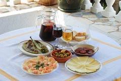 Spaanse tapasselectie, Andalusia. Royalty-vrije Stock Afbeeldingen