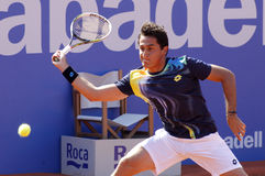 Spaanse tennisspeler Nicolas Almagro Stock Afbeelding