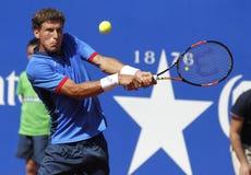 Spaanse tennisspeler Pablo Carreno Busta Stock Foto's