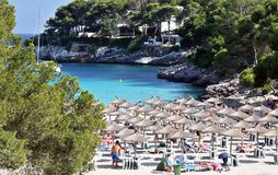 Spaanse toevlucht in Cala Dor Royalty-vrije Stock Foto's
