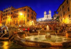 Spaanse Treden Rome, Italië stock fotografie