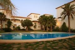 Spaanse villa's stock foto's