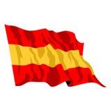 Spaanse Vlag Royalty-vrije Stock Foto's