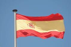 Spaanse vlag Stock Foto