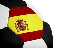 Spaanse Vlag - Voetbal Royalty-vrije Stock Foto's