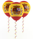 Spaanse vlagballon vector illustratie